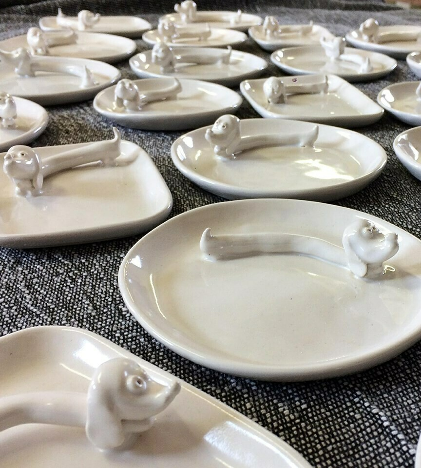 Ceramic Jewelry Dish - Rectangular