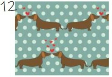Dachshund PVC Place Mats - 4 Designs Available