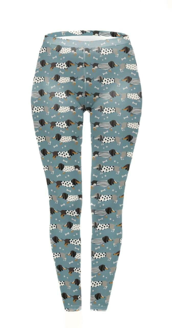 ​Dachshund Print Leggings - Design 6