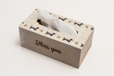 ​​TISSUE HOLDER BOX - Beige Pattern