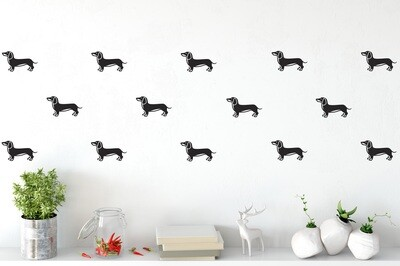 Set of Dachshund Wall Vinyls