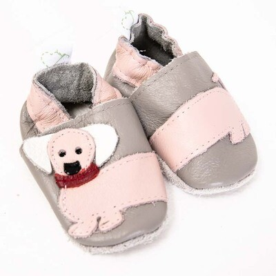 Dachshund Leather Baby Shoes – Girls