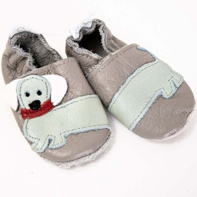 Dachshund Leather Baby Shoes – Boys