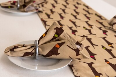 Fabric Napkins - Brown & Beige
