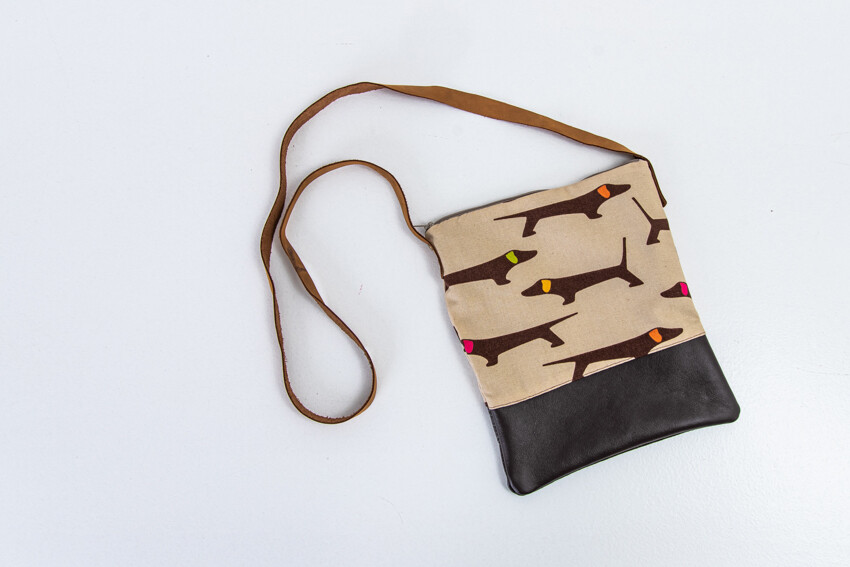 Sling Bag - Brown & Beige