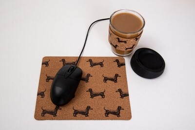 Dachshund Mouse Pad - Cork Theme