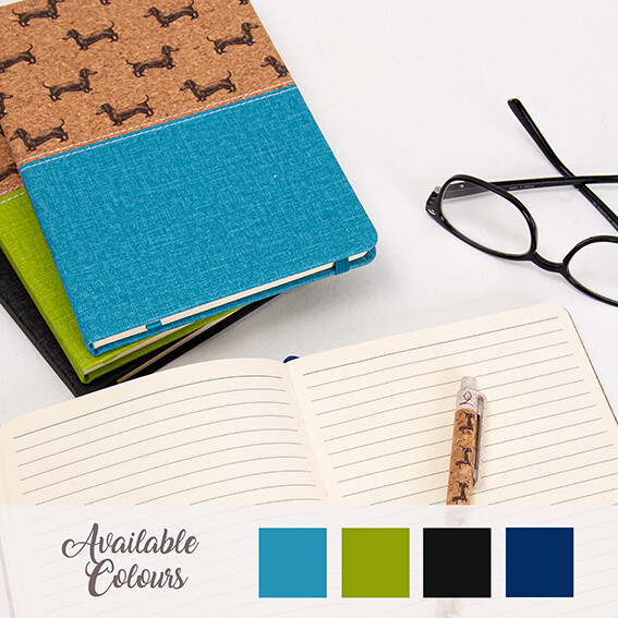 Dachshund Notepad - Cork Theme