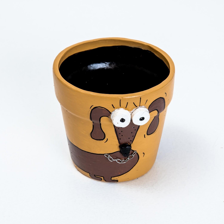 Pot - Dark Brown Dachshund