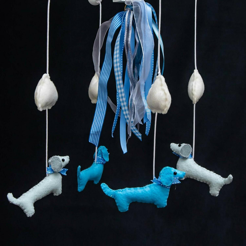 Baby Mobile - Grey Dachshunds
