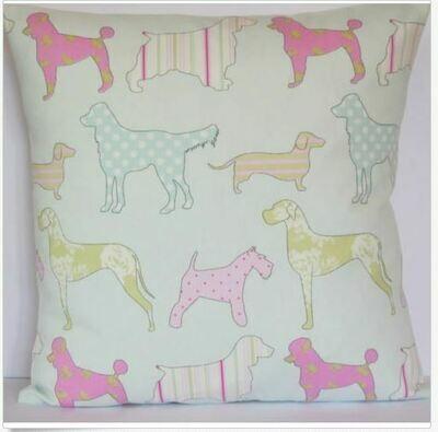 Cushion Slip - Mixed Dog Pattern 3