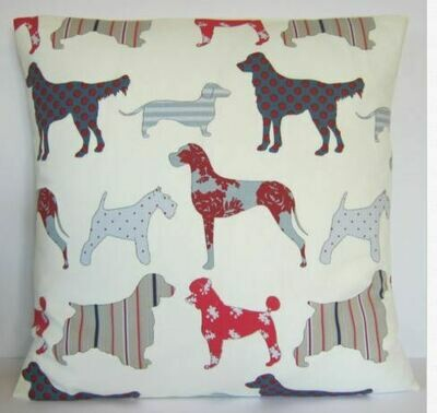 Cushion Slip - Mixed Dog Pattern 4