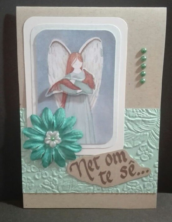 Hand Made Greeting Card - Net om te se (Afrikaans) 1