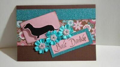 Hand Made Greeting Card - Baie Dankie (Afrikaans) 1