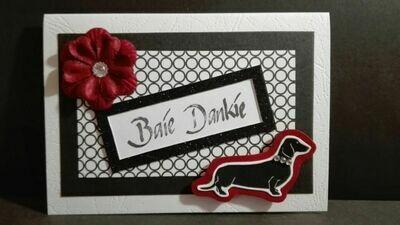Hand Made Greeting Card - Baie Dankie (Afrikaans) 3