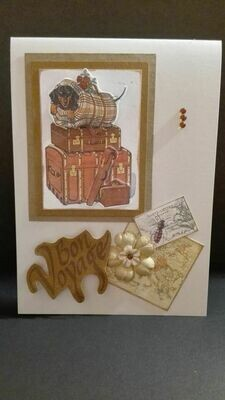 Hand Made Greeting Card - Bon Voyage