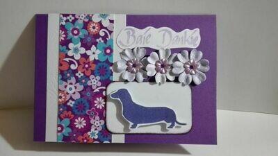 Hand Made Greeting Card - Baie Dankie (Afrikaans) 2