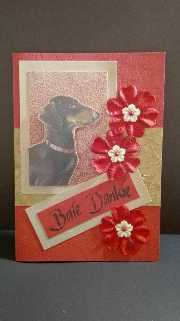 Hand Made Greeting Card - Baie Dankie (Afrikaans) 4