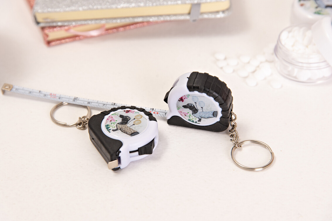 Keyring Tape Measure -Silver Or Gold
