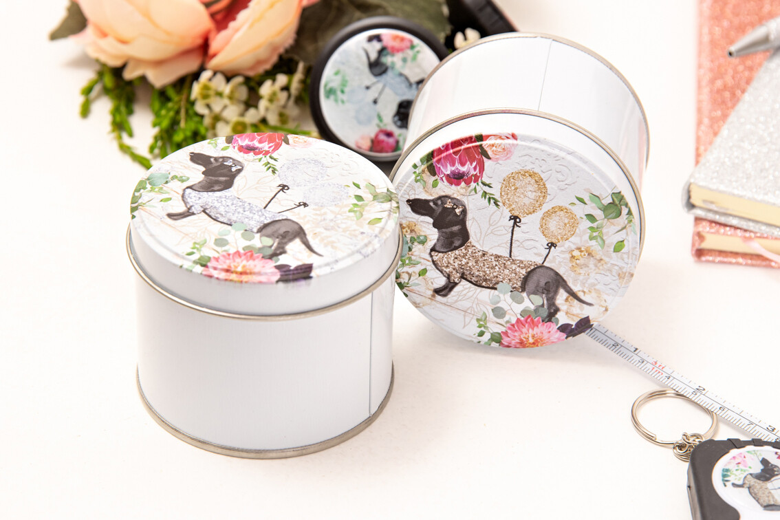 Round Gift Tin - Silver Or Gold
