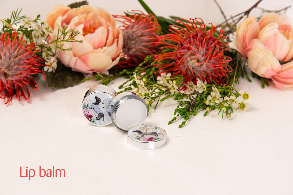 Lip Balm - Silver Container with silver print