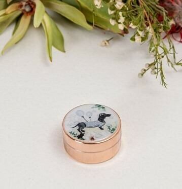 Lip Balm- Rose Gold Container with Gold Print