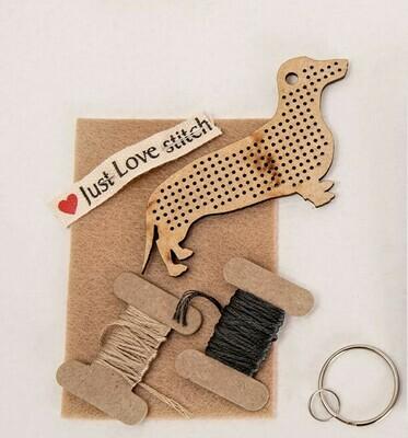 DIY Dachshund Keyring Kits