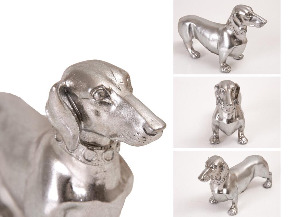 Dachshund Figurine - Silver
