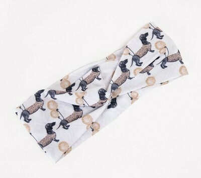Spring Dachshund Headbands - Design 1 - Gold
