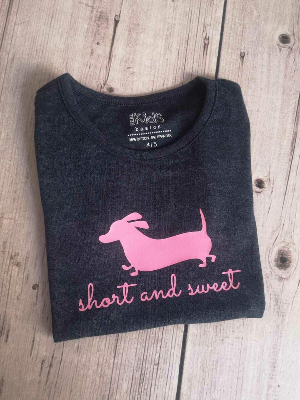 Girls T-Shirt - Short and Sweet