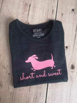 Girls T-Shirt - Short and Sweet