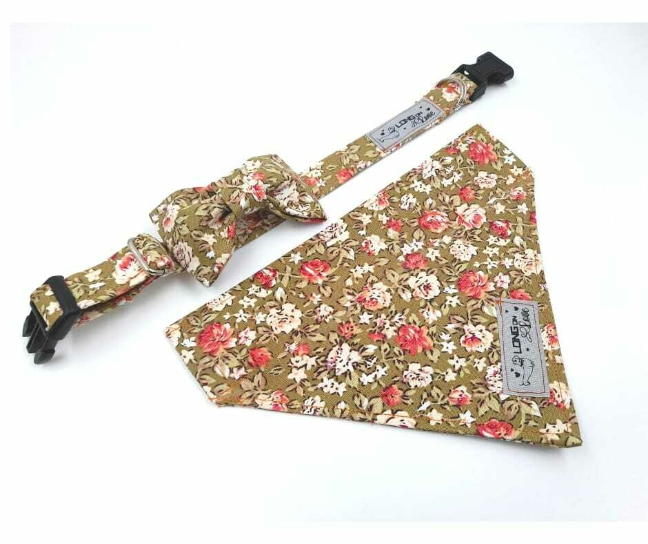 Collar & Bowtie Set - Girls Print 1 - X Small