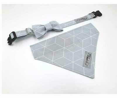Collar & Bowtie Set - Unisex  - X Small