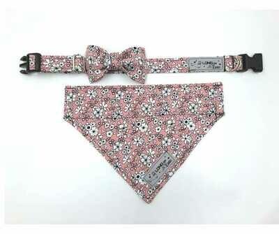 Collar & Bowtie Set - Girls Print 2 - Small