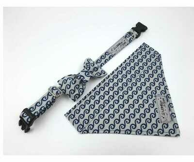 Collar & Bowtie Set - Boys Print 1 - X Small