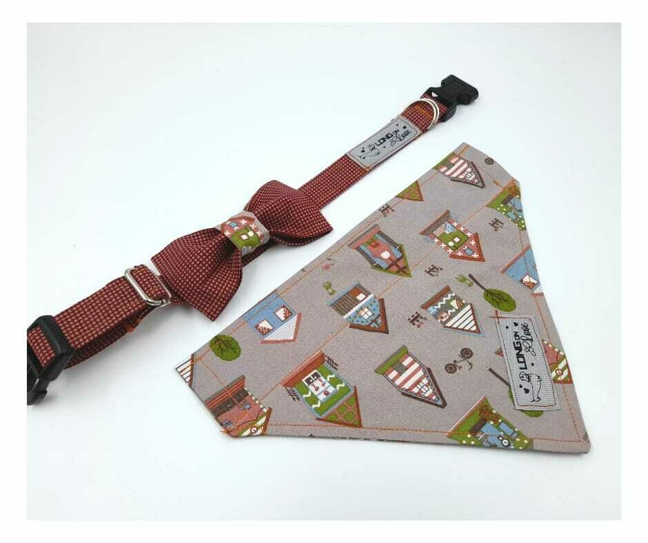 Collar & Bowtie Set - Boys Print 2 - Small