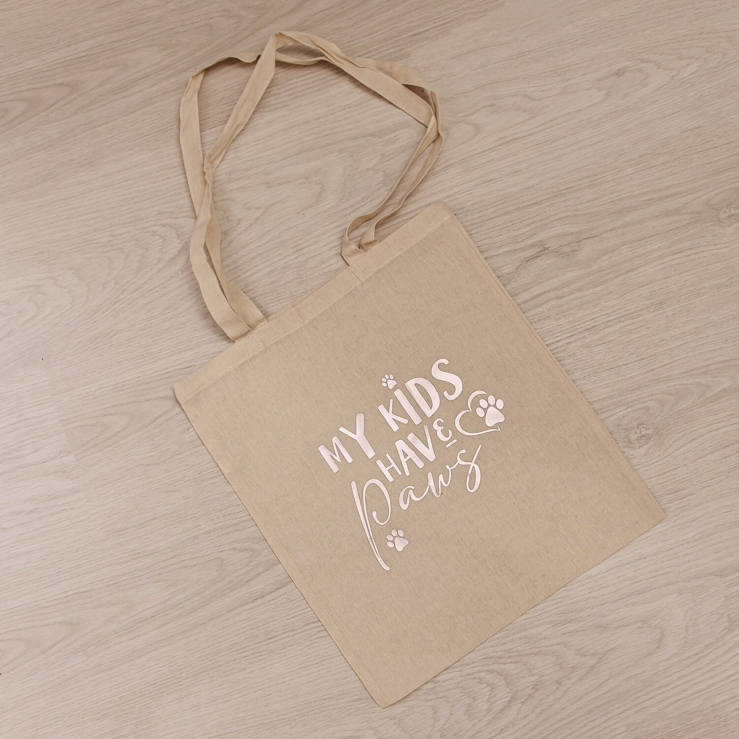 Cotton Shopper Bag - Design 2 - My Kids Have Paws