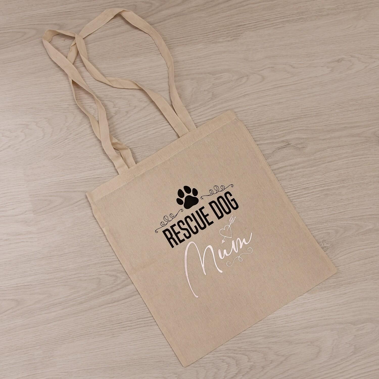 Cotton Shopper Bag - Design 3 - Rescue Dog Mum