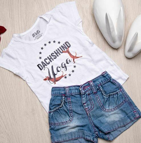 Dachshund Yoga T-shirt - Ladies Fit