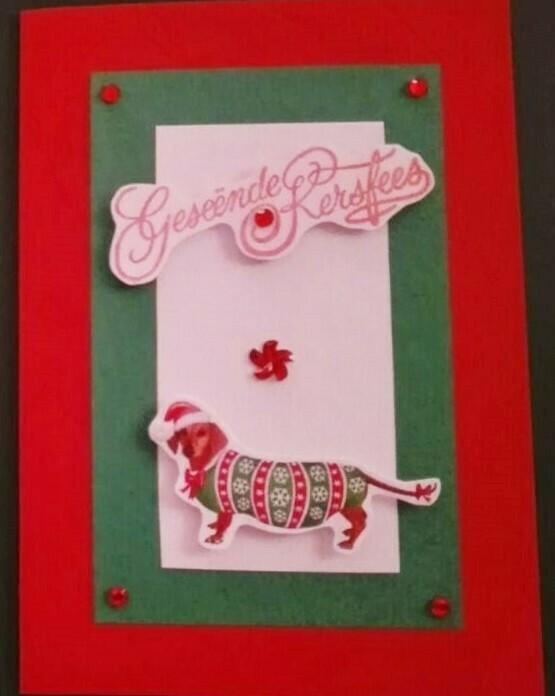 Handmade Card - Geseende Kersfees 1