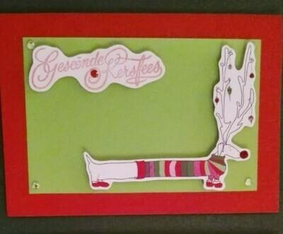 Handmade Card - Geseende Kersfees 4