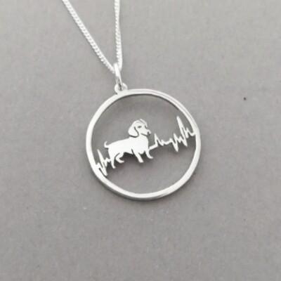 Heartbeat Dachshund - Pendant & Chain