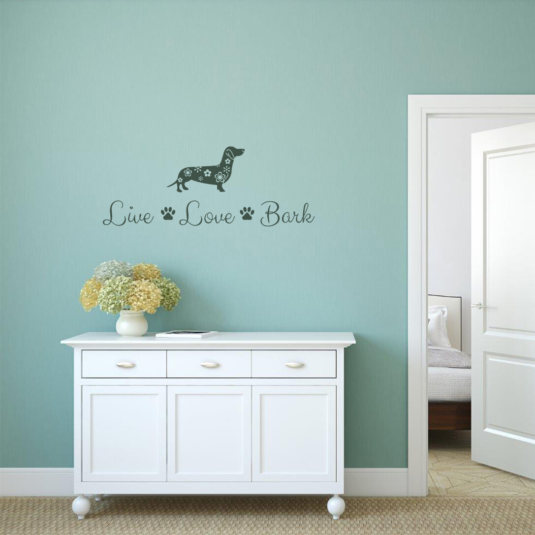 Wall Decal - LIVE, LOVE , BARK