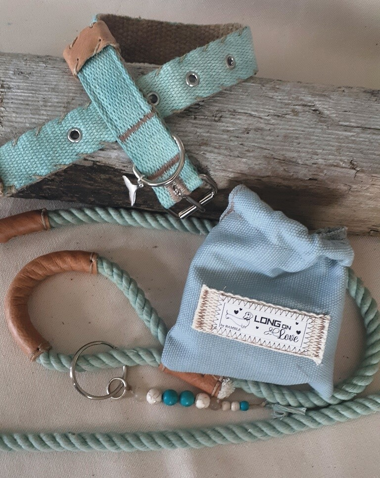 Dog Lead, Pouch and Collar sets - Marine Blue