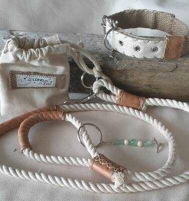 Dog Lead, Pouch and Collar sets - Natural