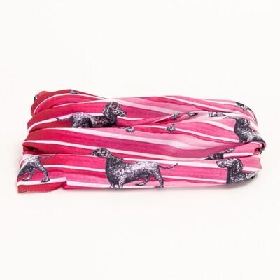 Dark Pink Dachshund Buff - 2