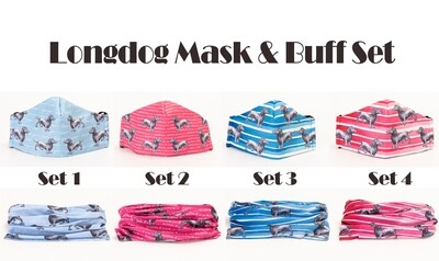 Long Dog mask and Buff Sets