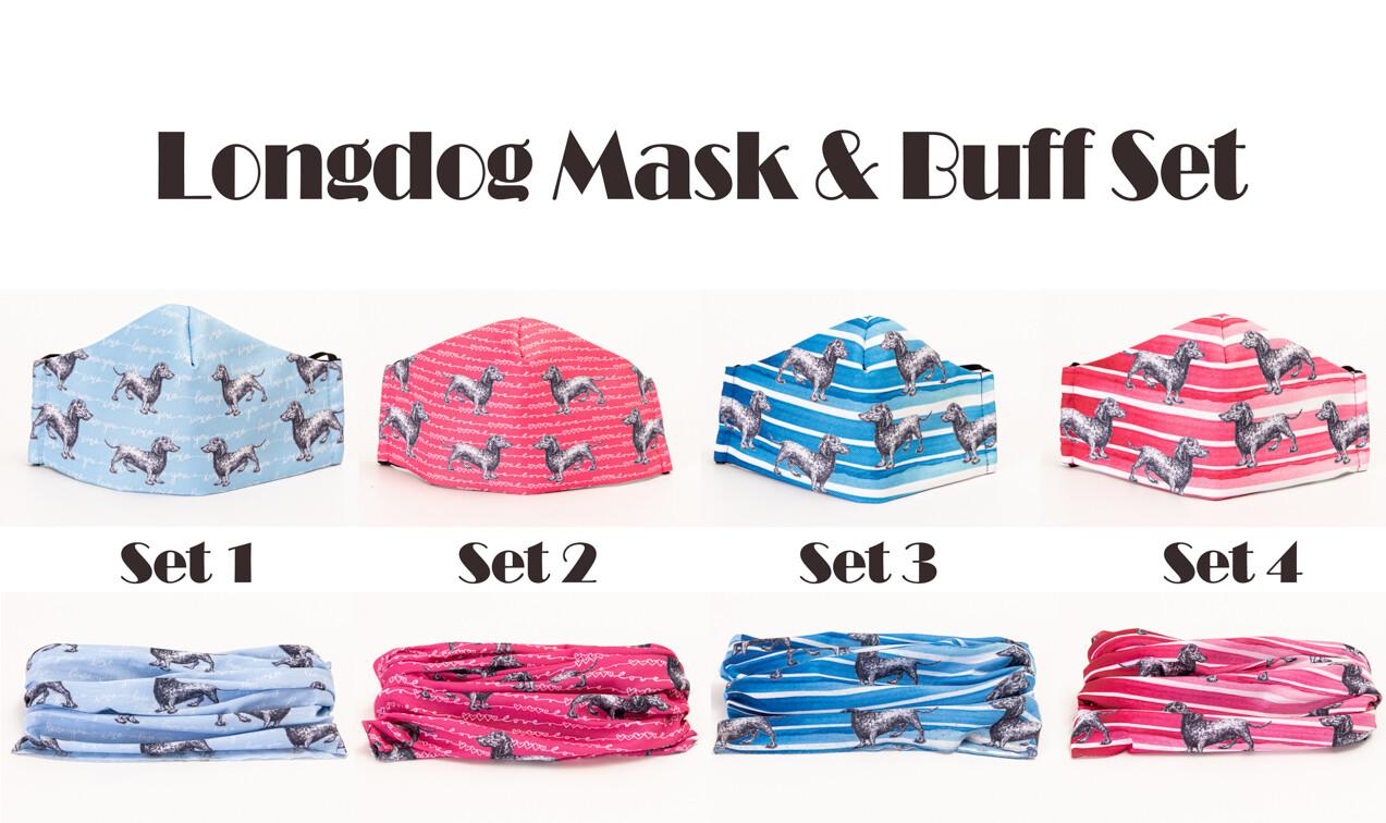 Long Dog mask and Buff Sets