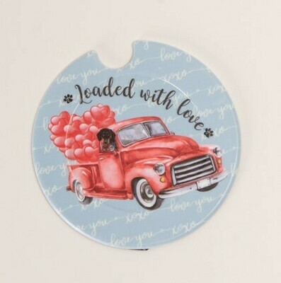 Plastic Licence Disc Holders - Loaded with love
