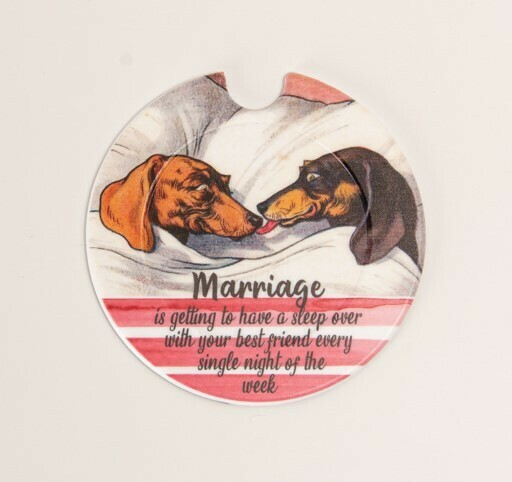 ​Plastic Licence Disc Holders - Marriage - Red