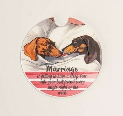 Plastic Licence Disc Holders - Marriage - Red